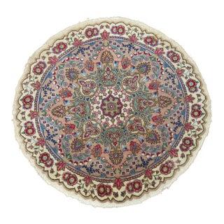 Round Persian Tabriz Rug - 3'3'' x 3'3''
