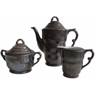 3-Piece Dekor Feinsilber Pewter Tea Set