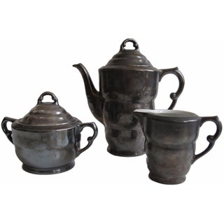 3-Piece Dekor Feinsilber Pewter Tea Set