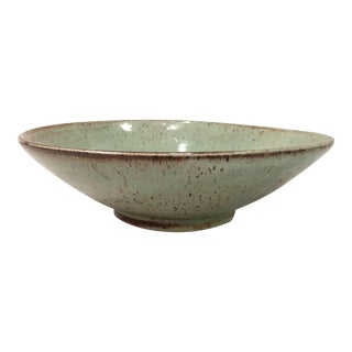 Ceramic multi color bowl by Walter Gebaur