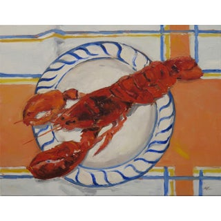 Lobsta' Plate Oil on Canvas Painting