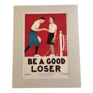 "Vintage ""Be a Good Loser"" 1930's Classroom Poster"