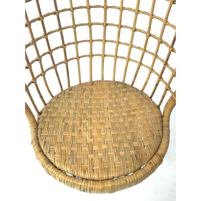 1960s Rohe Cane Hanging Chair - Image 4 of 5