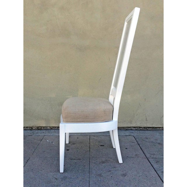 1970s White Lacquer And Lucite Dining Chairs - Set of 4 - Image 3 of 6