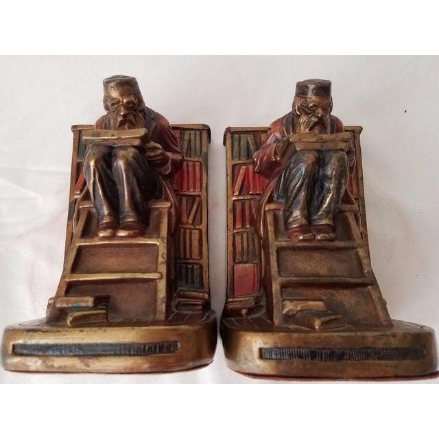 1920s vintage g s allen armor bronze bookends a pair chairish - Armor bronze bookends ...