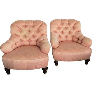 Vintage Baker Lounge Tub Chairs - A Pair
