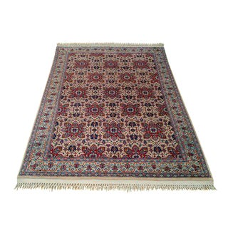 Persian Kashan Hand-Knotted Rug - 4′7″ × 6′8″