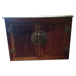 Antique Asian Filing Cabinet with 4 Drawers
