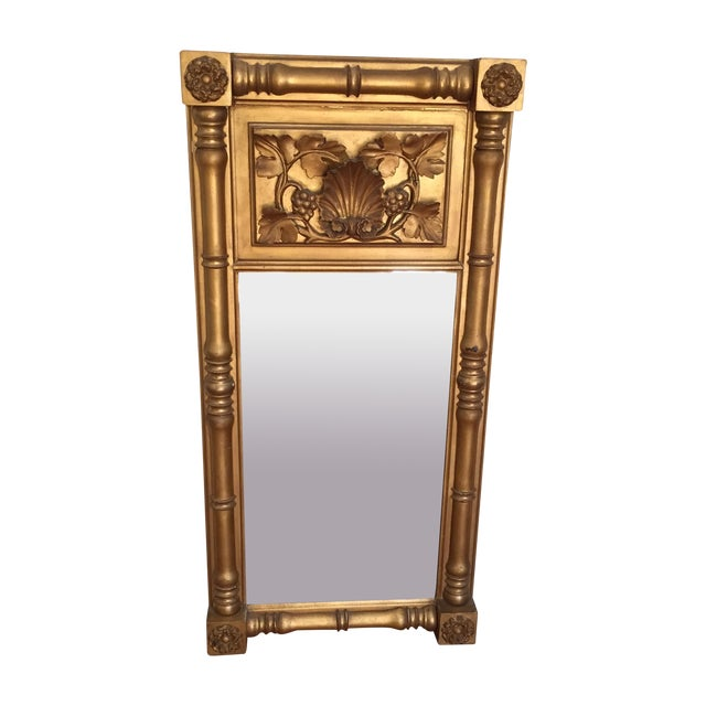 Empire Style Gilt Trumeau Mirror - Image 1 of 4