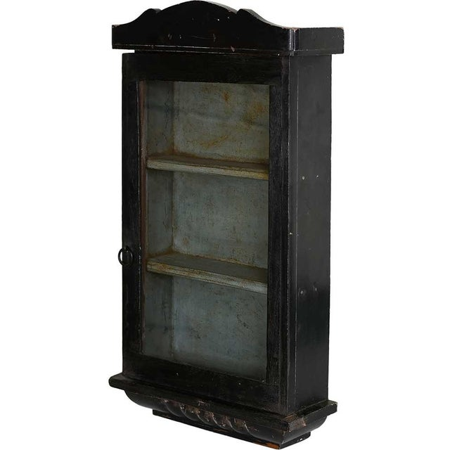 Image of Pebble Black Showcase Wall Cabinet