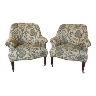 Kravet Furniture Regency Style Accent Club Chairs - A Pair
