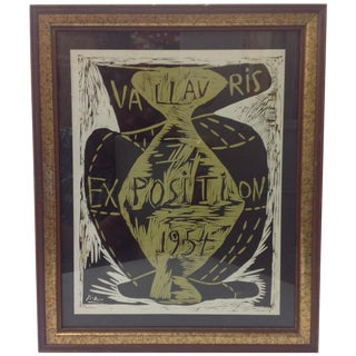 Picasso Vallauris 1954 Exposition Poster