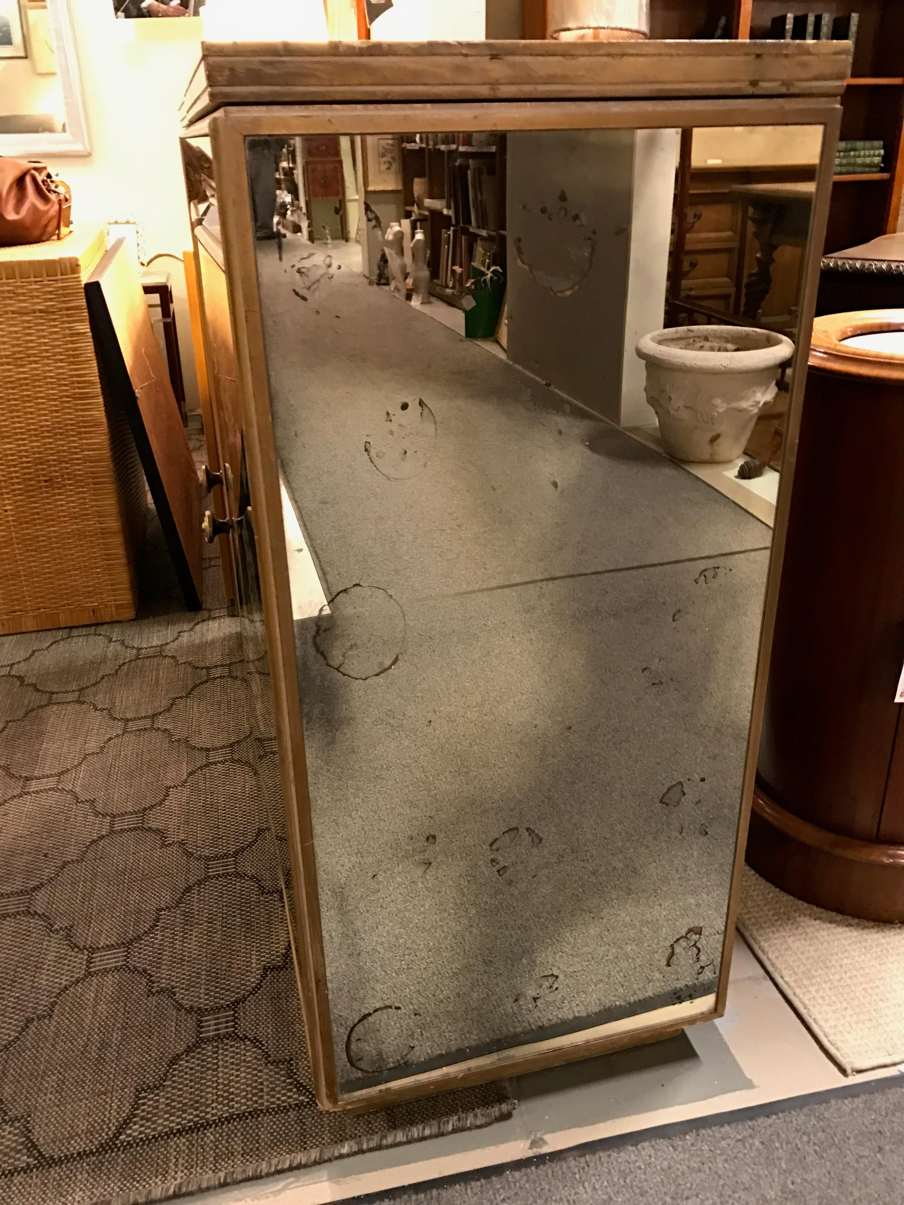 Vintage Chinoiserie Mirrored Buffet Cabinet   Image 7 Of 11