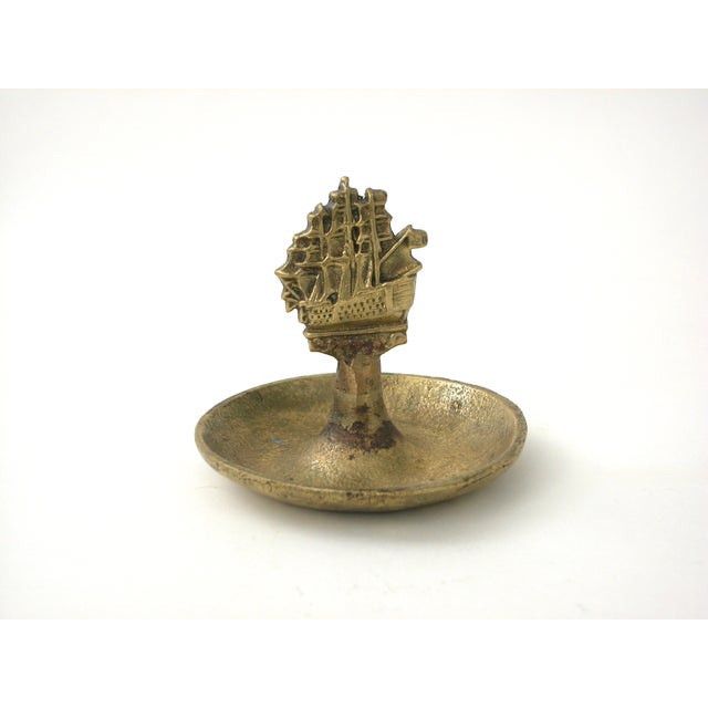 Brass Ship Dish - Image 3 of 9