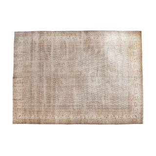 "Vintage Distressed Oushak Carpet - 8'11"" x 12'6"""