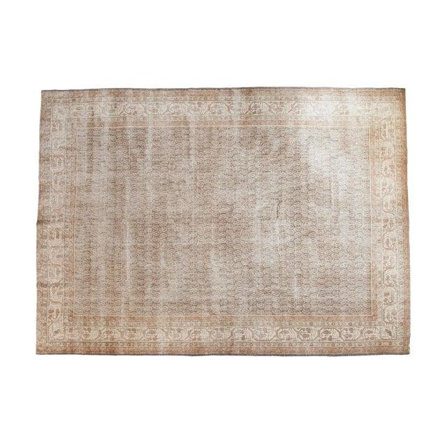 "Vintage Distressed Oushak Carpet - 8'11"" x 12'6"" - Image 1 of 10"