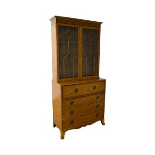 Baker Hepplewhite Federal Style Secretary Desk