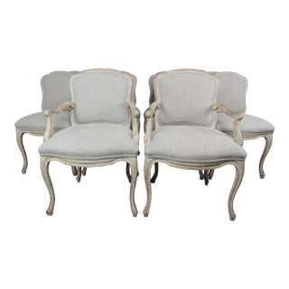 French Louis XV Style Dining Chairs - Set of 10