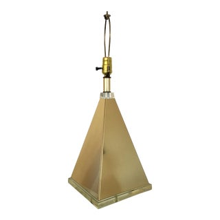 Pyramid Table Lamp With Lucite Base