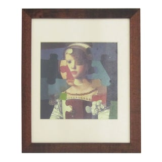 framed Mixed-Media Jigsaw Collage