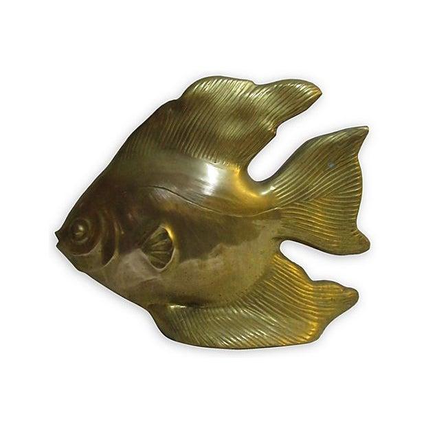 Large Brass Fish - Image 1 of 4
