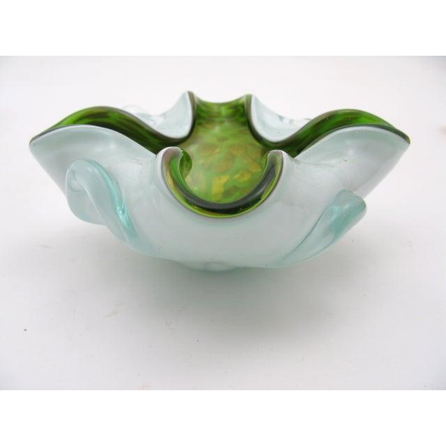 Image of Italian Lobed Murano Glass Bowl