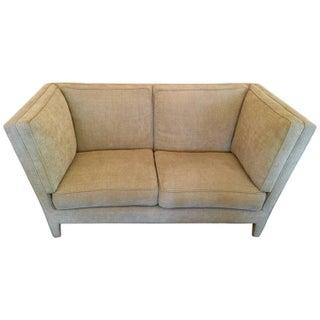 Donghia Beige Chenille Loveseat Sofa