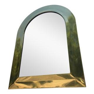 Hollywood Regency Italian Brass Frame Mirror