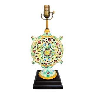 Italian Pottery Vase Lamp
