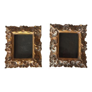Vintage Italian Composite Small Photo Frames - a Pair