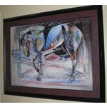 """Image of """"Persian Horse"""" Abstract Painting"""