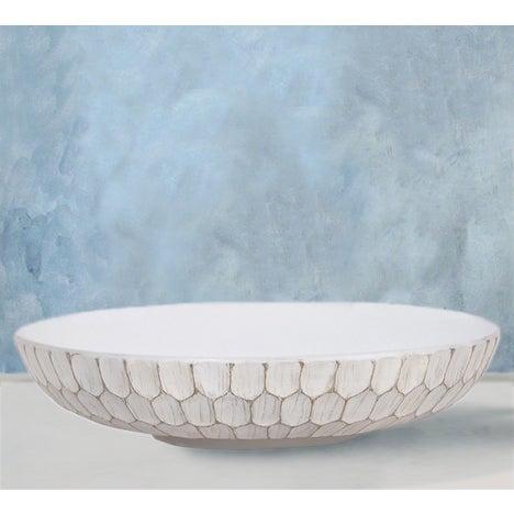 Image of White Carved Divot Bowl