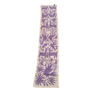 Lilac Otomi Runner Handmade in Mexico