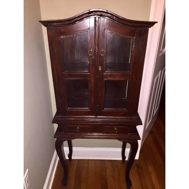 Cherry wood traditional armoire chest chairish