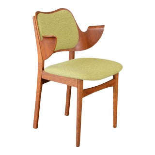 Hans Olsen Bent Teak & Oak Arm Chair