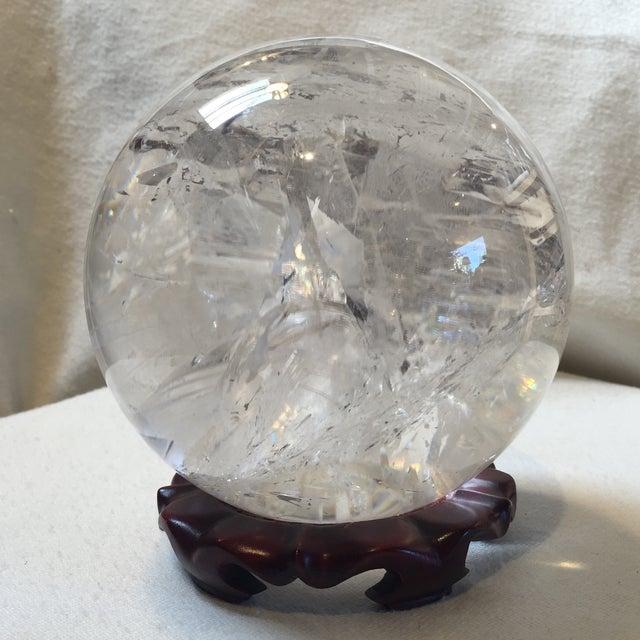 Extra Large Quartz Crystal Ball - Image 4 of 8