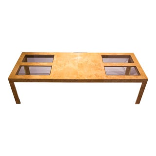 Thomasville Burl Wood Expandable Dining Table