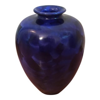 Cobalt Blue Electric Kiln Crystalline Vase