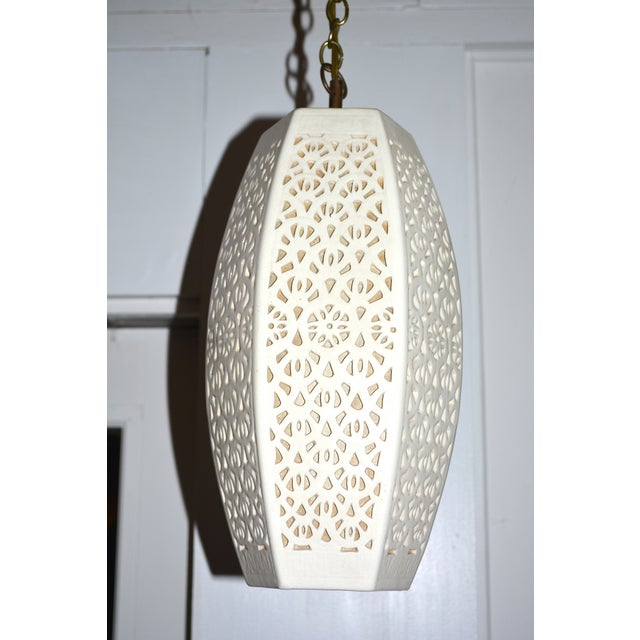 Mid-Century Ceramic Pendant Lights, 1960s Pair - Image 2 of 7