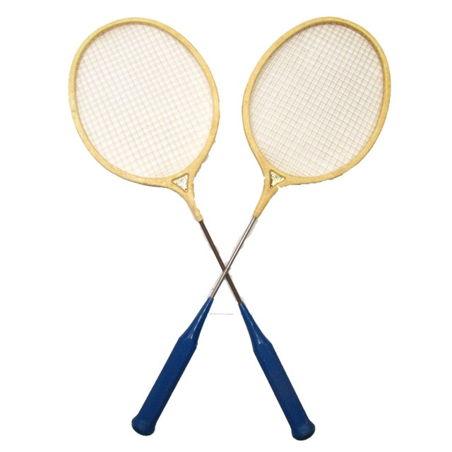 Classic Spalding Comet Badminton Racquets, A Pair - Image 3 of 3