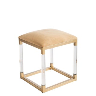 Statements By J Acrylic Gold Stool