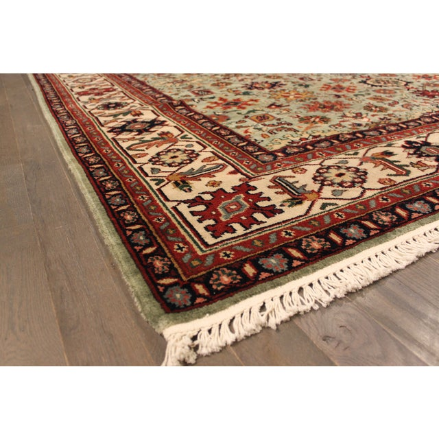 """Image of Hand-Knotted Mahal Wool Rug - 8' x 9'8"""""""