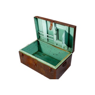 Rusted Mint Green Shipping Trunk