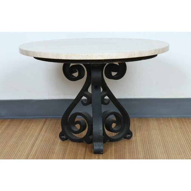 Image of Wrought Iron Small Side Table