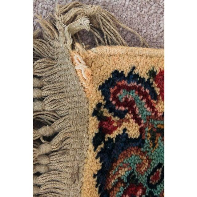 Antique Karastan Kirman Floral Rug - 4′4″ × 5′8″