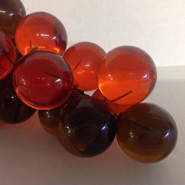 Image of Vintage Mid-Century Orange Lucite Grapes