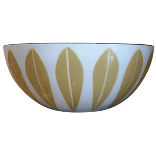 "CathrineHolm of Norway White/Yellow Lotus 8"" Bowl"