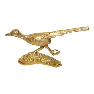 Vintage Gold Gilded Road Runner Figurine