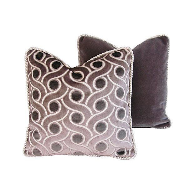 Image of Custom Osborne & Little Cut Velvet Pillows - Pair