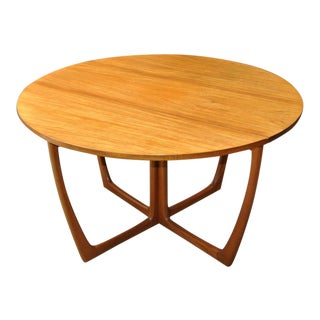 1960s Vintage Danish Mid Century Modern Butterfly Base Drop Leaf Dining Table